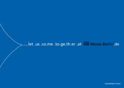 Kampagne für die Messe Berlin allgemein